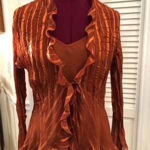 Rust blouse